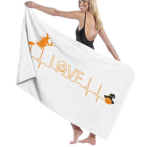 zhengshaolongG Badetuch Beach Towels Halloween Nurse Heartbeat Bath Towels for Teen Girls Adults Travel Towel Washcloth 31x51 Inches