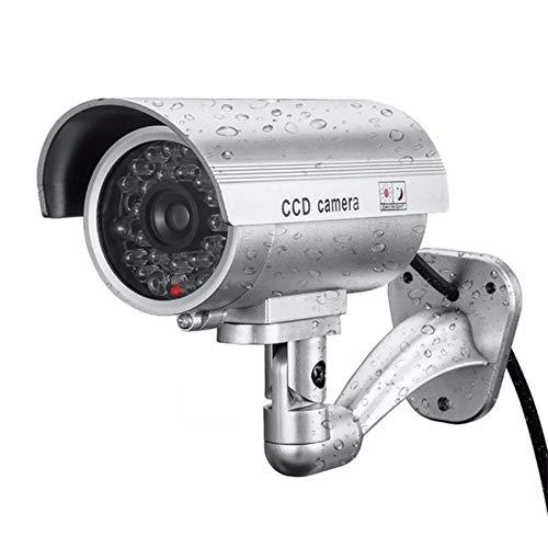 Romsion Camera Fake Dummy Camera Bullet Waterdichte Buiten Binnen Veiligheid CCTV Camera, ZILVER