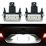 GemPro 2Pcs LED License Plate Light Lamp Assemly For Toyota Camry Yaris Corolla Prius Verso-s, Powered by 18SMD Xenon White LED Lights