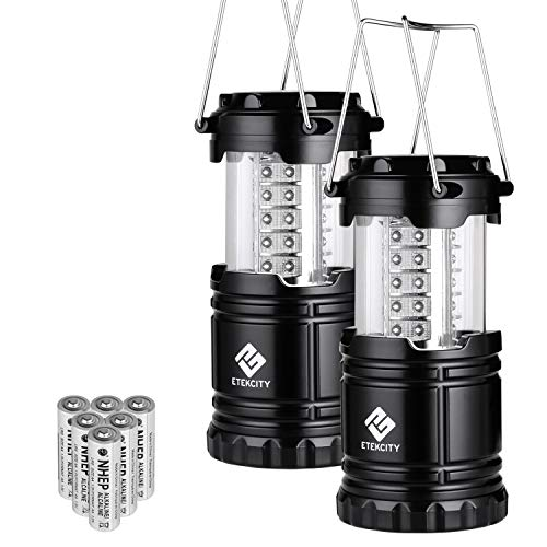 Etekcity LED Camping Lantern Collapsible Flashlight Portable Lamp AA Battery Powered Light, a...