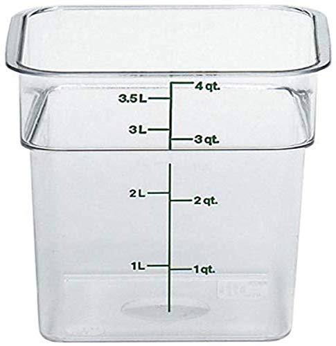 Cambro 4SFSCW135 CamSquare Square Food Storage Container (4-Quart, Polycarbonate, NSF)