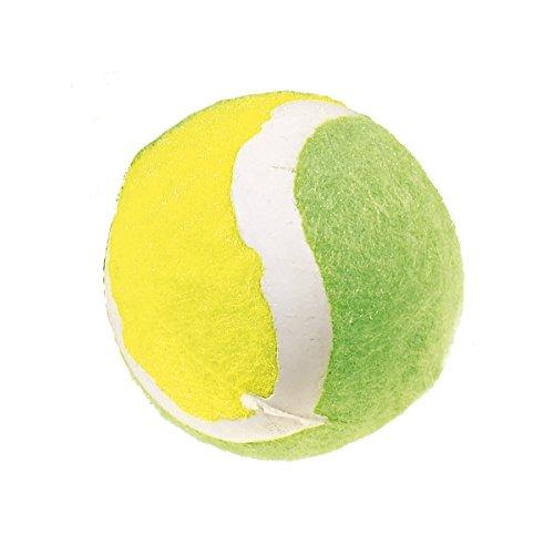 Classic Mascota Productos Mini Pelota de Tenis Divertido, Verde/Amarillo