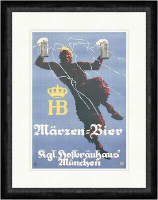 Kunstdruck Märzen Bier Hofbräuhaus München Ludwig Ehrenberger Faks_Plakatwelt 171
