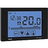 Termostato Reloj pantalla táctil programa semanal batería operativos pared ve452900Chronos Negro