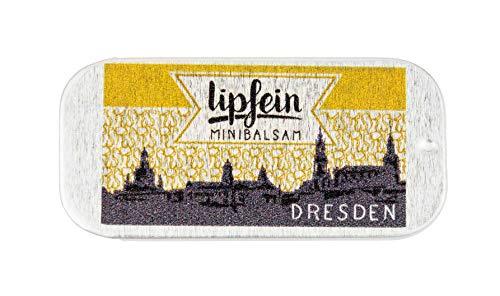 lipfein Lippenbalsam Klassik - Dresden Edition 4g, natürliche Lippenpflege, vegane Lippenpflege, zertifizierte Naturkosmetik, Lipbalm, Zero Waste