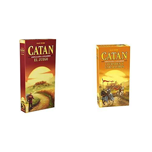 Devir - Catan, Juego de Mesa - Ampliación para 5 y 6 Jugadores (BGCATAN56) + Ampliacion de 5 y 6 Jugadores para Ciudades y Caballeros de Catan, Miscelanea (BGCIU56)