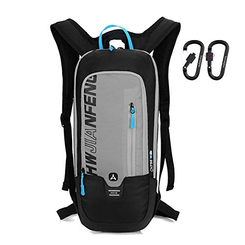 Yovanpur Bike Backpack, Waterproof Breathable Cycling Bicycle Rucksack, 10L Ultralight Mini Biking Daypack Sport Bags for Fitness Running Hiking Camping Climbing Skiing Biking Trekking (Grey)