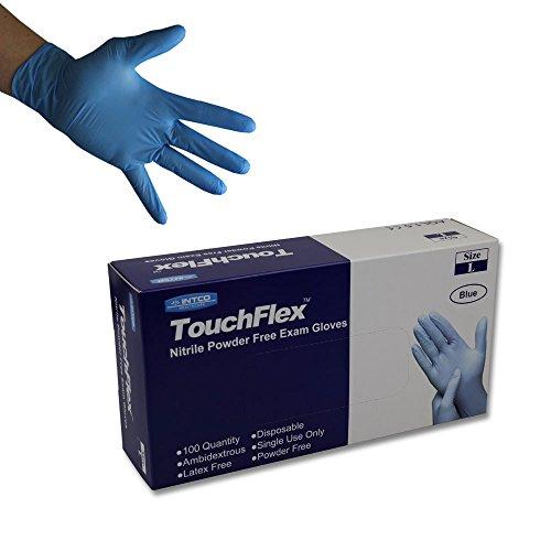 100 St guantes desechables de látex 1,5 Aql puderfrei talla m