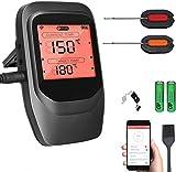 Sendowtek Termometro per Barbecue con 2X Sonda, Wireless Termometro Digitale...