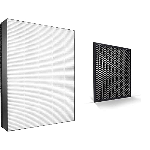 Philips NanoProtect-HEPA-Filter für Luftreiniger AC2882/10 und AC2887/10, 1 Stück, FY2422/30 & Aktivkohlefilter für Luftreiniger AC2882/10 und AC2287/10, 1 Stück, FY2420/30