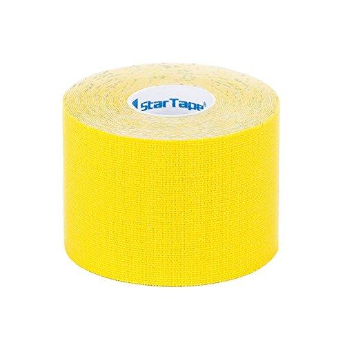 SL StarTape Kinesiologie Tape Gelb - Sporttape Pflaster 5 cm breit und 550 cm lang - Sport Bandage - Verband zum Tapen
