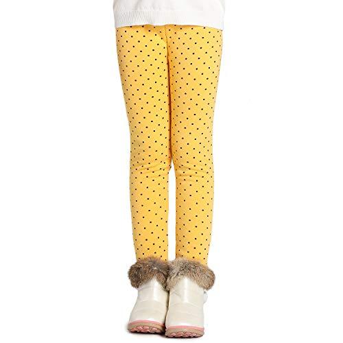 Adorel Meisje Fleece Leggings Warm Winter Katoen Effen