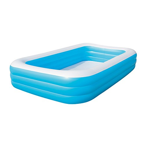 BestWay Family Swimming Paddling Pool Rectangular Inflatable Above Ground...