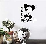 pegatina de pared 3d pegatina de pared frases Maquillaje Artista Logo Moda Estilo Salón de belleza Decoración s Maquillaje