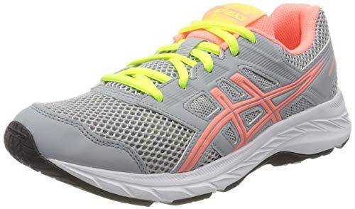 ASICS Contend 5 GS 1014A049024, Zapatillas de Running Unisex niños, Gris Piedmont Grey Sun Coral, 39 EU