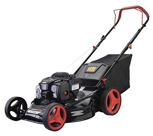 """Pulsar Products PPG1221 21"""" Cutting Path Gasoline Lawn Mower W/Briggs and Stratton Engine, Black/White"""