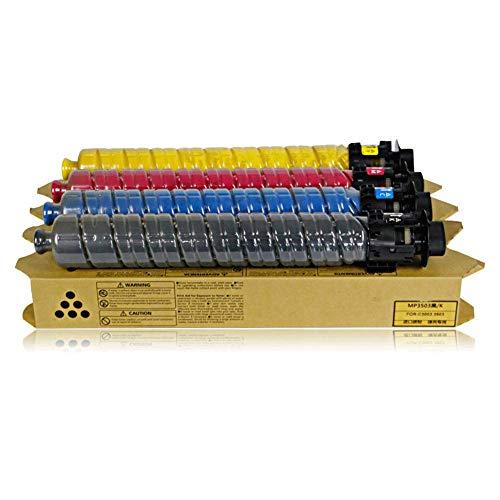 Gemakkelijk toe te voegen Poeder, voor Ricoh MP C3503 Color Toner Cartridge Set C3003SP C3503SP Toner Cartridge, MP C3503 Toner stijlnaam size Zwart