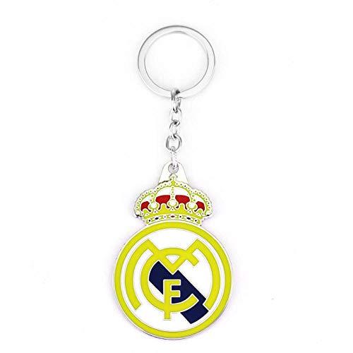 HMGHBMG Real Madrid Fußballverein Logo Schlüsselanhänger Anhänger Real Madrid Fans liefert Geschenke
