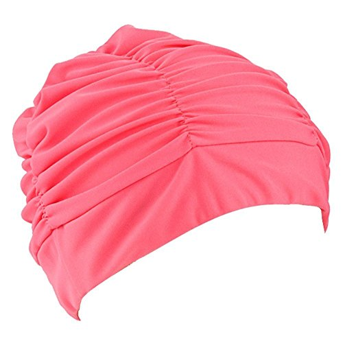 ZUMUii Butterme Señoras Chicas Plisado Tela de Paño Suave Sombrero de Natación/Cap/Turbante Gorro de Baño Hermoso Sombrero para Rastas Pelo Largo Verano/Mar/Piscina Juego de Diversión