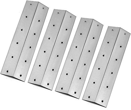 WELL GRILL Stainless Steel Heat Plates BBQ Flavorizer Bar Replacement Parts for Outback Spectrum 3-burner, Spectrum 3-burner flatbed, THG3302P, THG3302S, 4-Pack