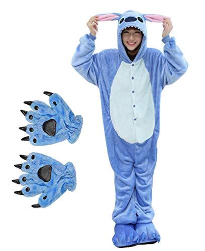 Ghope Kigurumi Dinosaure Squelette Pyjama Adulte Anime Pyjamas Tenue Onesie Cospaly Fête Flannels Costume Animaux Anime Halloween Onesie avec Gants + Pantoufles