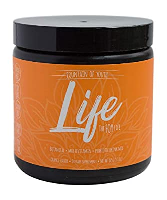 The Foy LIFE: All in ONE, East Meets WEST Supplement Drink Mix with Essential Vitamins/Minerals, botanicals, Anti-oxidants,probiotics. Energy + Vitality + Immunity. Orange Flavor. Created by Doctors