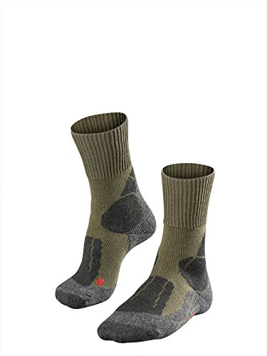 Falke TK 1 - Calcetines de Senderismo para Hombre, tamaño 44-45, Color Asfalto