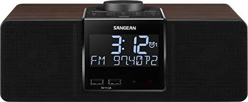Sangean RCR-40 Am/FM-RDS(RBDS)/Bluetooth/AUX Digital Tuning Radio de Madera con batería de Respaldo