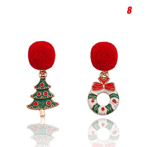 Maxte Elegantes pendientes asimétricos de Navidad para mujeres y niñas.