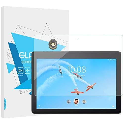 TiMOVO Protector para Lenovo Tab E10, Prima HD Claro 9H Dureza Cristal Templado Película de Protector de Pantalla para Lenovo Tab E10 10.1' Tablet - Claro