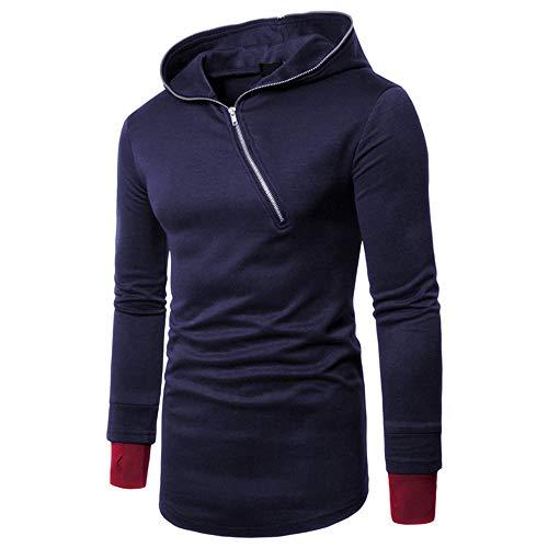 prjn mens hoodie diagonal zipper