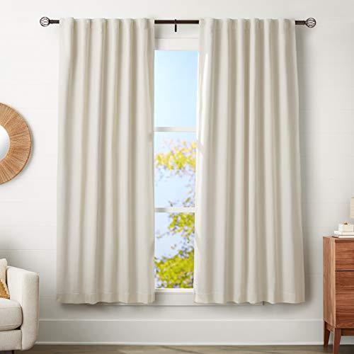 Amazon Basics - Bastone per tenda, con terminali a gabbia, da 183 a 366 cm, diametro 3 cm, caffè (bronzo scuro)