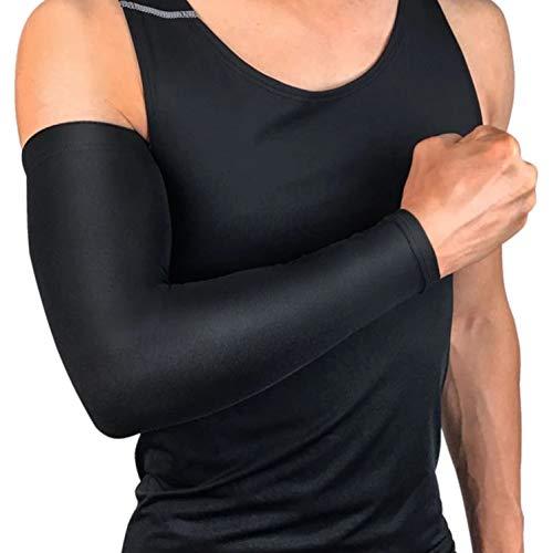 oxoxo sports Arm Sleeves mit Kompressionseffekt zum Schutz vor Sonne und Kälte | rutschfest Dank Silikon-Saum | Armlinge für Running, Radsport, Basketball | 1 Paar = 2 Stück [Gr. L]