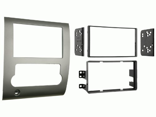 Carxtc Double Din Install Car Stereo Dash Kit for a Aftermarket Radio Fits 2008-2012 Nissan Titan All Except S Trim Trim Bezel is Painted Silver