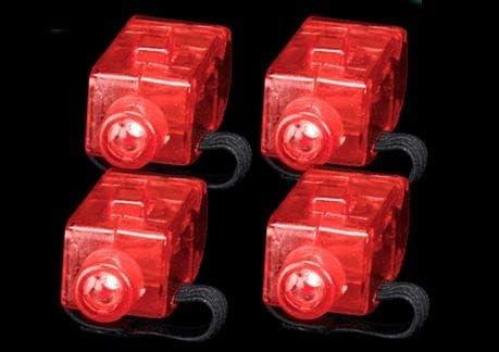 Los Angeles Superstore Finger Lights 10 Pack Red only LED Finger Flashlights Lamps for raves product image