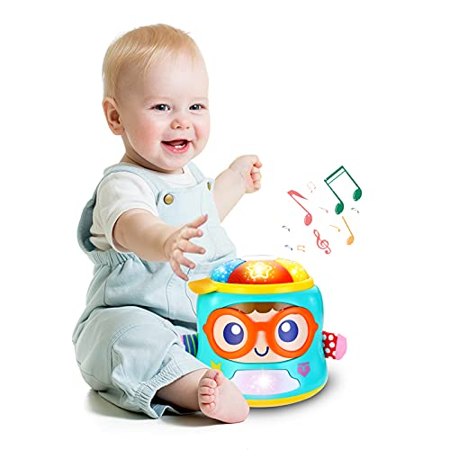 INSOON Baby Musical Toys Baby Soother Infant Toys for 6 9 12 18 Month Old Boys Girls Musical Toys for Infant 6 to 12 Months with Lights and Songs Gifts for 1 Year Old Electronic Learning Sensory Toys