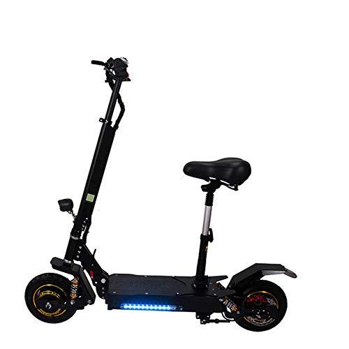 LYXQQ Mini Scooter Plegable, Scooter Eléctrico, 48V Bicicleta Recargable, 800 W De...