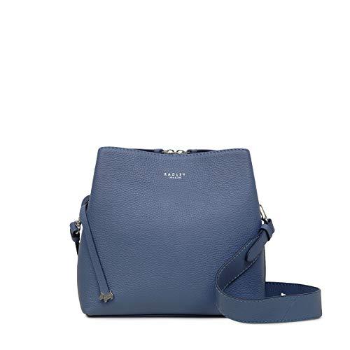 Radley London Womens Dukes Place Multi-Compartment Leather Bag, Medium, BLUE