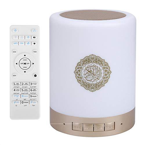 Cuque Lámpara táctil Quran Speaker, Touch LED Lamp Control Remoto Manos Libres con 25 Idiomas Quran Speaker, para Amigos Reunidos Yoga Reproductores de música