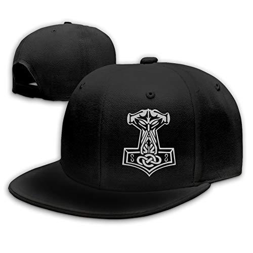 in Odin We Trust Thor Vikings Hammer Mjolnir Norse Celtic Men's Hip Hop Dad Baseball Cap Unisex Classic Trucker Hat Black