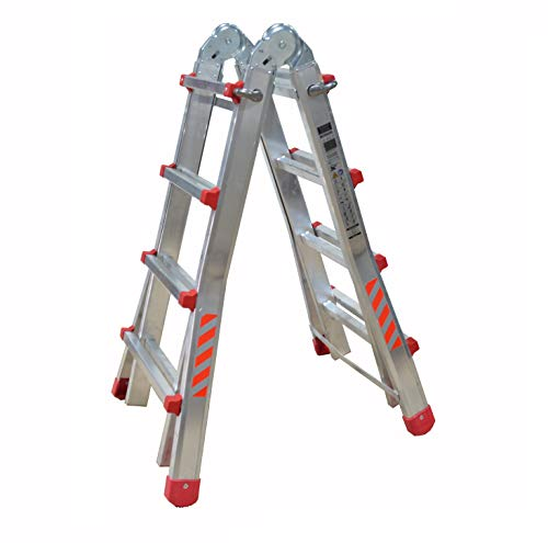 Escalera Plegable DE ALUMINO MULTIFUNCION Extensible 4 x 4 PELDAÑOS