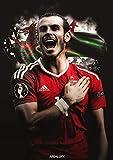 14inch x 20inch/35cm x 49cm Gareth Bale Silk Poster