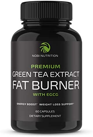 Nobi Nutrition Green Tea Fat Burner Green Tea Extract Supplement with EGCG Diet Pills Appetite product image