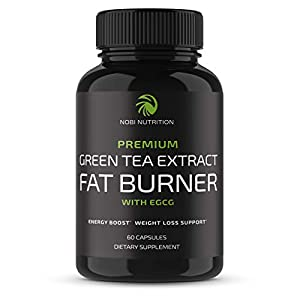 Nobi Nutrition Green Tea Fat Burner – Green Tea Extract Supplement with EGCG – Diet Pills, Appetite Suppressant, Metabolism & Thermogenesis Booster – Healthy Weight Loss for Women & Men