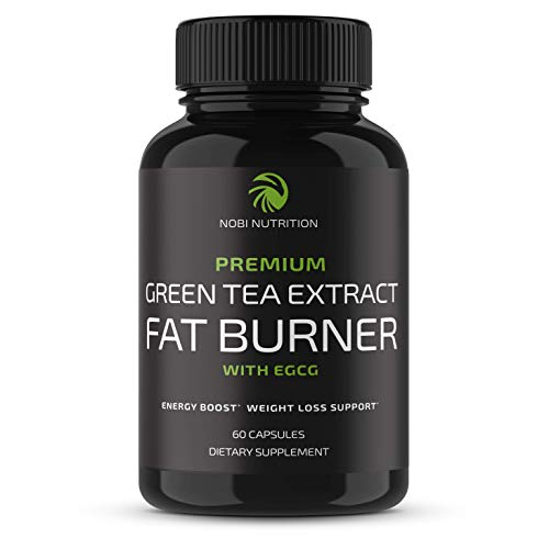 Nobi Nutrition Green Tea Fat Burner - Green Tea Extract Supplement with EGCG - Diet Pills, Appetite Suppressant, Metabolism & Thermogenesis Booster - Healthy Weight Loss for Women & Men (60 ct)