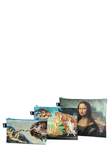 LOQI Museum Zip-Etuis Münzbörse, Michelangelo, Botticelli, Da Vinci
