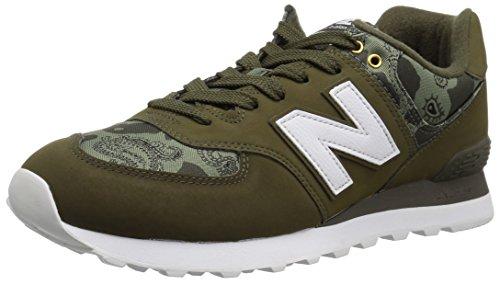 New Balance Herren 574 ml574 schuhe, breite 2e, militär dunkel triumph covert 16.5 uk covert grün weiß