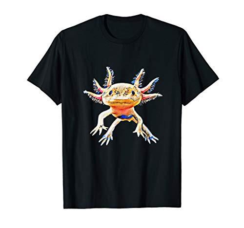 Axolotl Shirt Aquarium Amphibie Molch Damen Herren Kinder T-Shirt