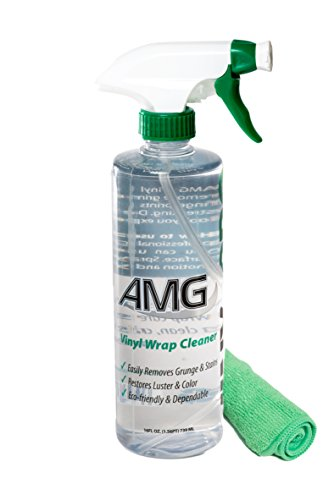 AMG Vinyl Pro Cleaner, Clean and Restore all Vinyl, Rubber, Plastic, Leather, Fiberglass Surfaces, Non-Toxic, with Green Microfiber Towel - Pro Cleaning Kit 16 fl. oz
