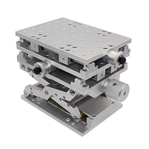 XYZ 3-Achsen Lineartisch 80x80mm Aluminiumlegierung Trimmplattformlager Manuelle Feinabstimmung des Schiebetisches